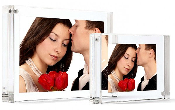 Acrylic Perspex Block Photo Frames