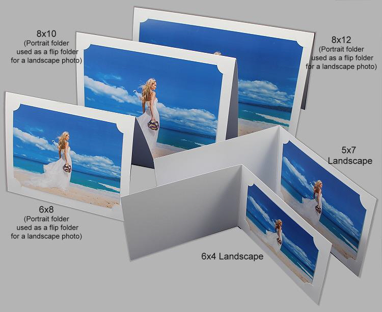 Photo Folder Corner Land White 1