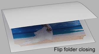 Photo Folder Corner Land White 2